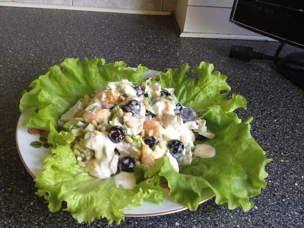 Салат с виноградом и курицей пошаговый рецепт 49