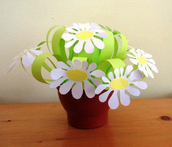Бумажные цветы поделки своими руками