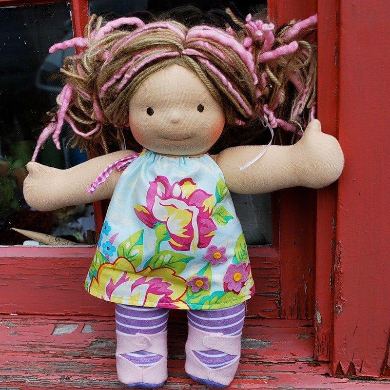 Игровые текстильные куклы для детей своими руками 39