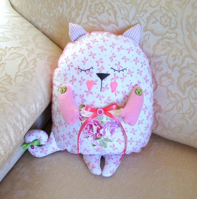 Подушка своими руками фото кот