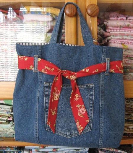 Как сшить сумочку из джинс