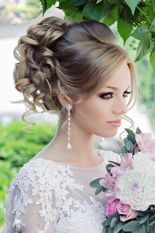 Фото с прическами для свадьбы