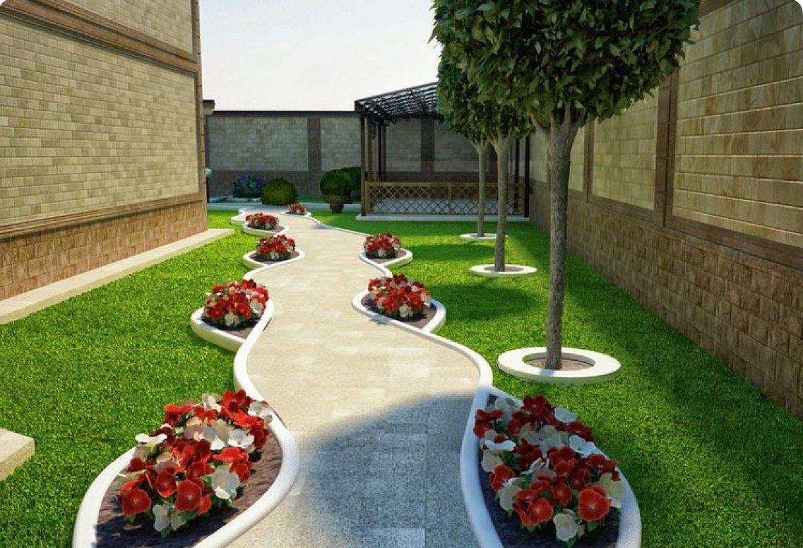 Идеи для дизайна двора в частном доме своими руками 71