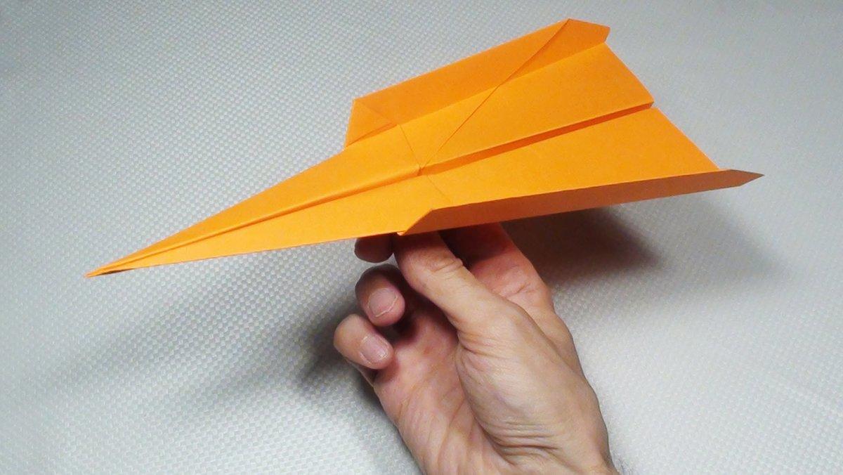 Как сделать самолет из бумаги который летает 100
