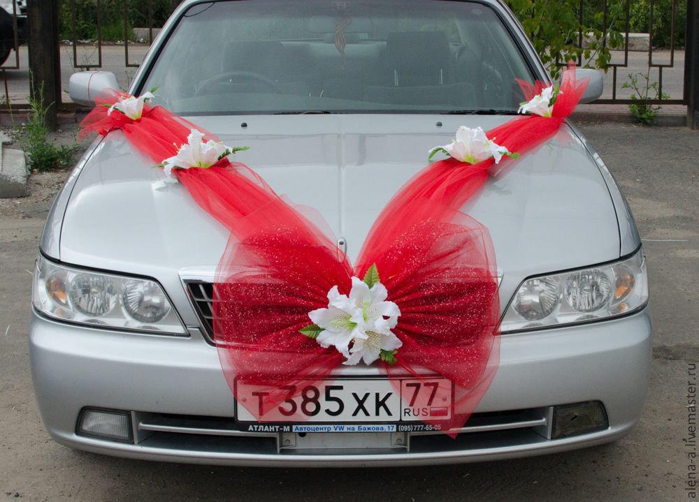 Бантики для машины на свадьбу своими руками 70