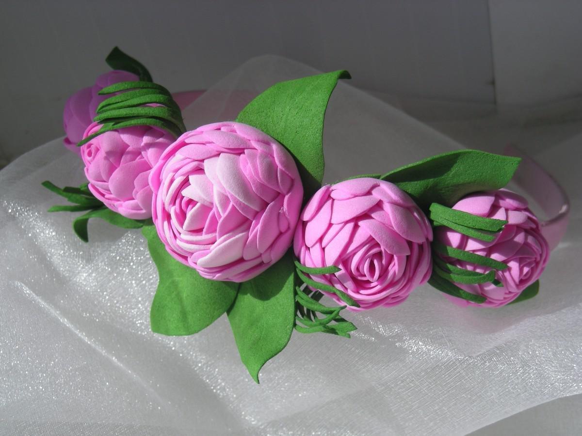 Цветы из декоративной пенки своими руками