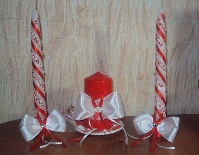 Как украсить свечи свадебные своими руками