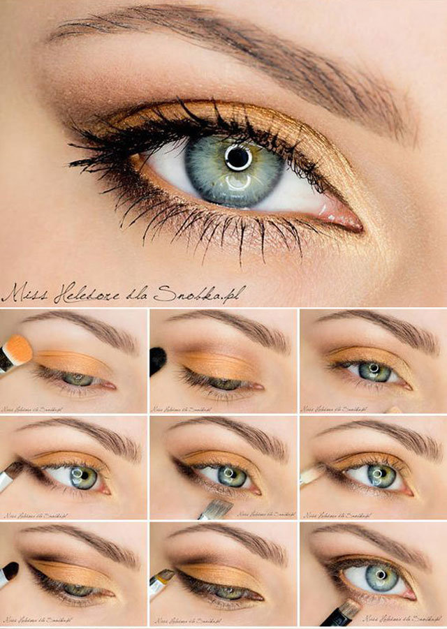 Красивый макияж для зеленых глаз в домашних условиях