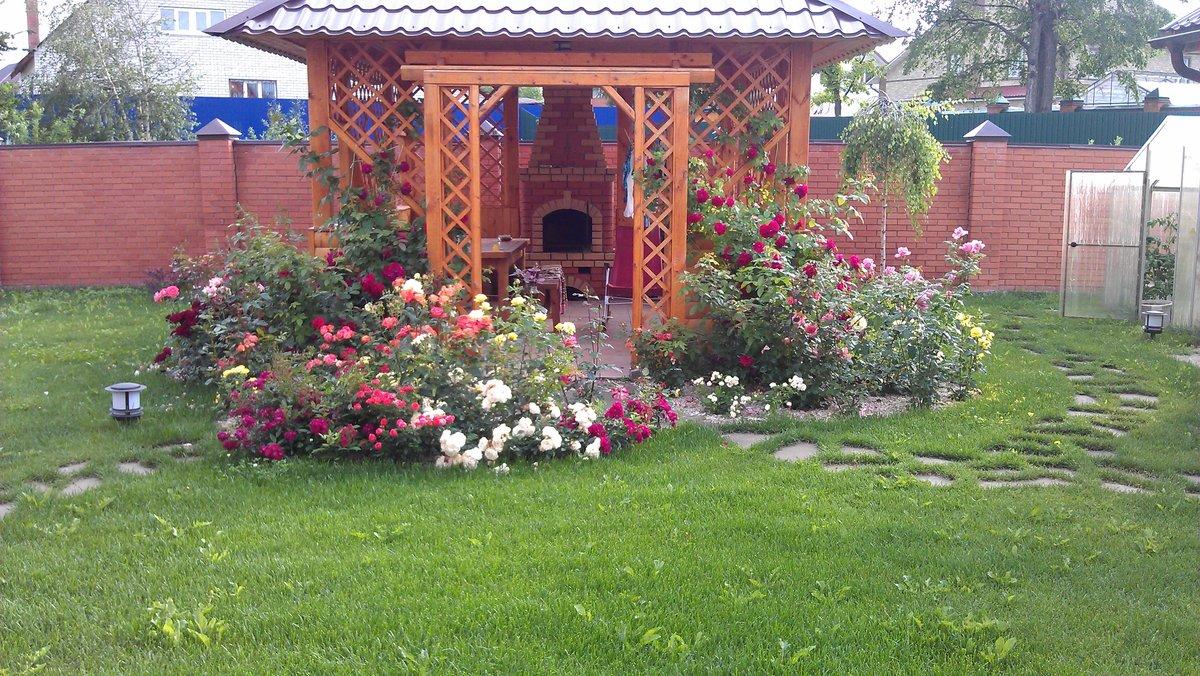 Розарий на даче своими руками фото садовый  540