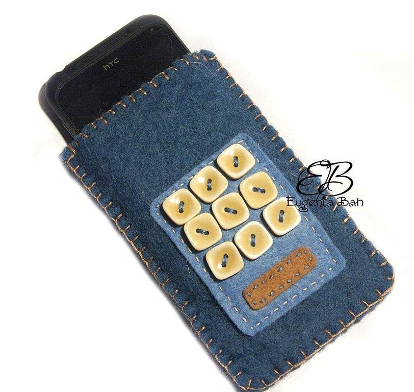 Чехол для мобильного телефона своими руками из джинса 3