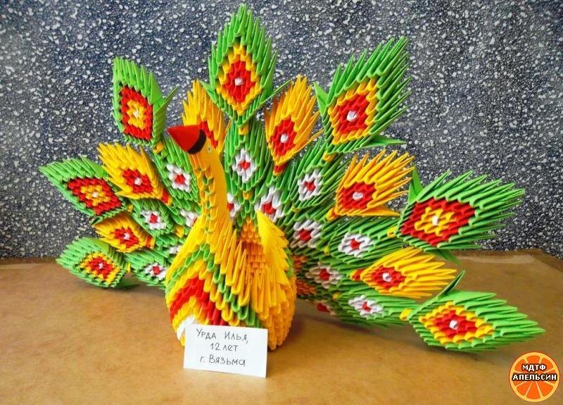 Модульное оригами как сделать птицу из 177