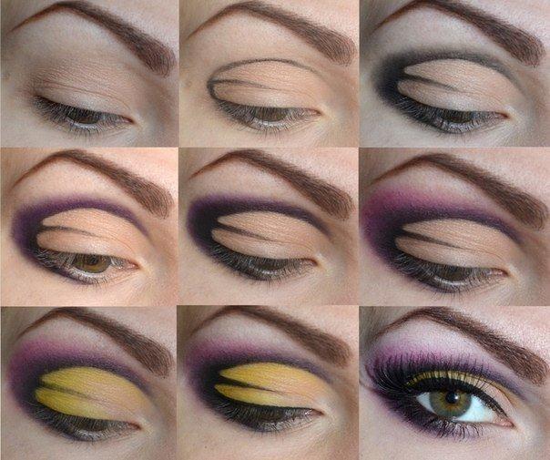 Как сделать фиолетовые глаза в домашних условиях