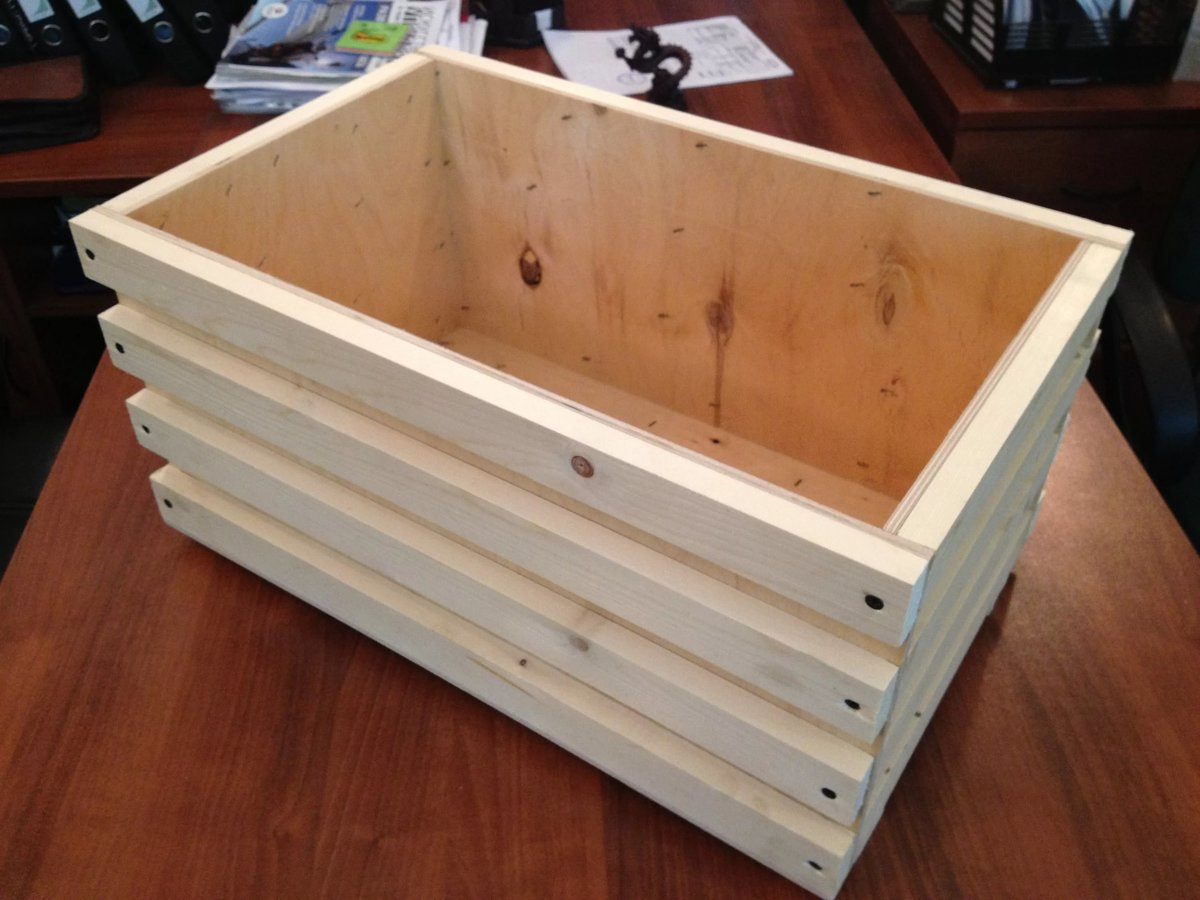 Ящик для засолки рыбы своими руками