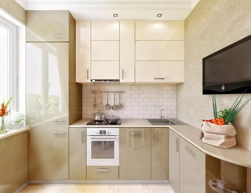 Кухня в 6 кв.м интерьер фото