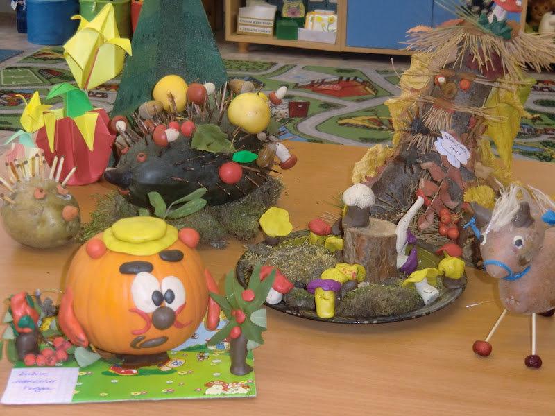 Поделки для детского сада тема осень фото 26