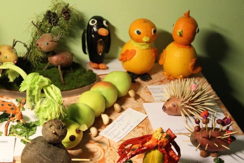 Выставка поделки из овощей и фруктов 87