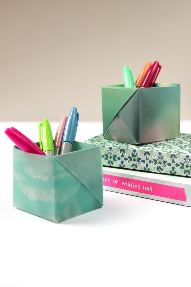Органайзер из бумаги своими руками оригами для канцелярских товаров