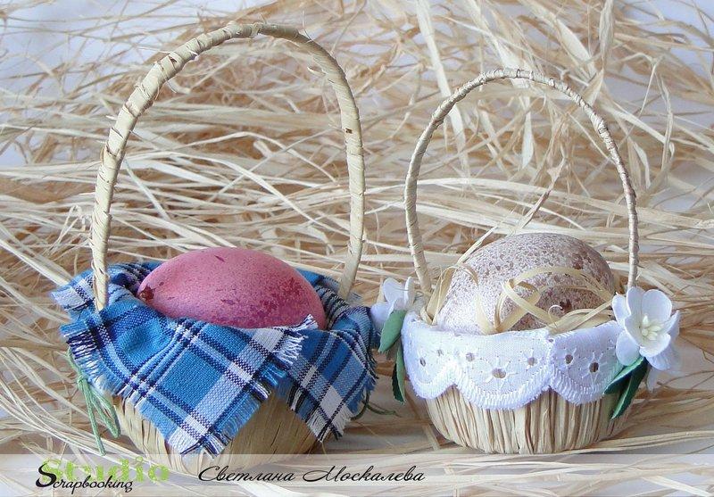 Корзины для яиц на пасху своими руками