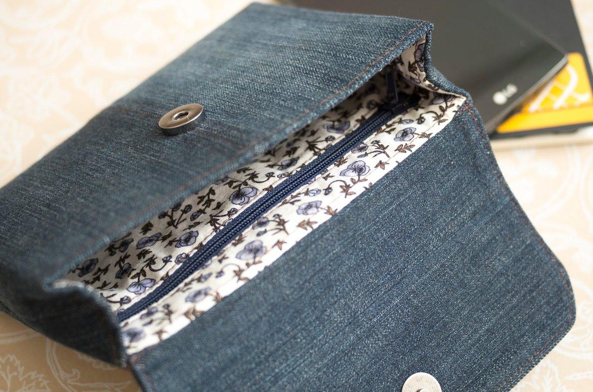 Как из джинс сшить клатч своими руками