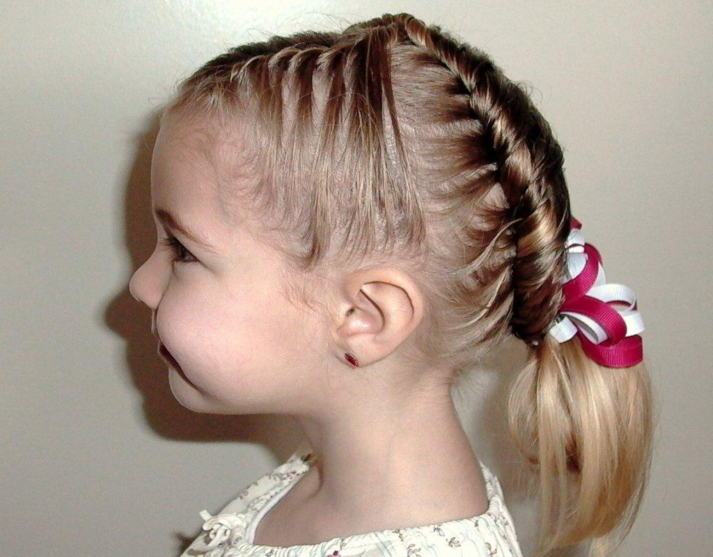 Прически для маленьких девочек 4 года фото