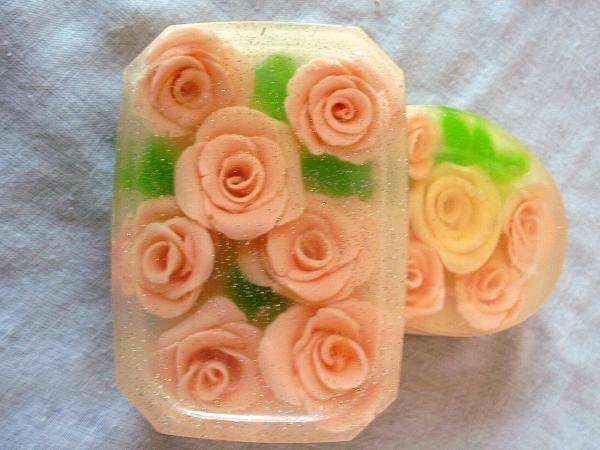 Как сделать мыло розу без формы