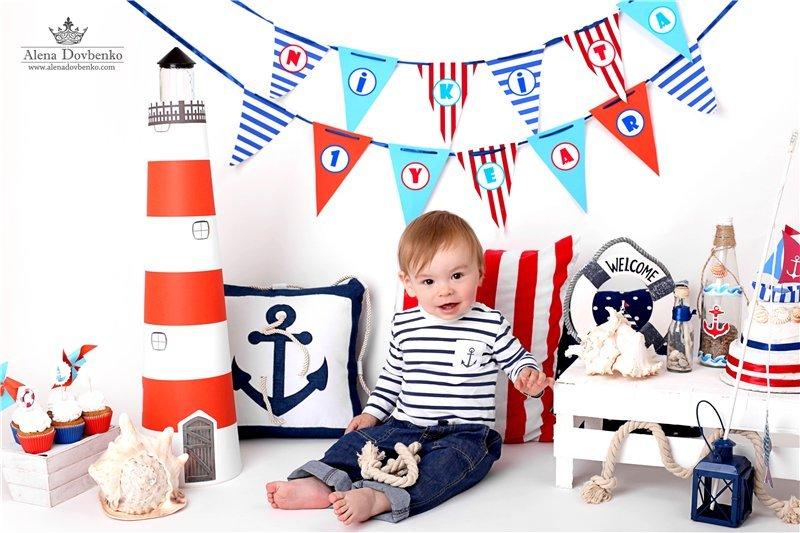 Оформление детского дня рождения в морском стиле своими руками 3