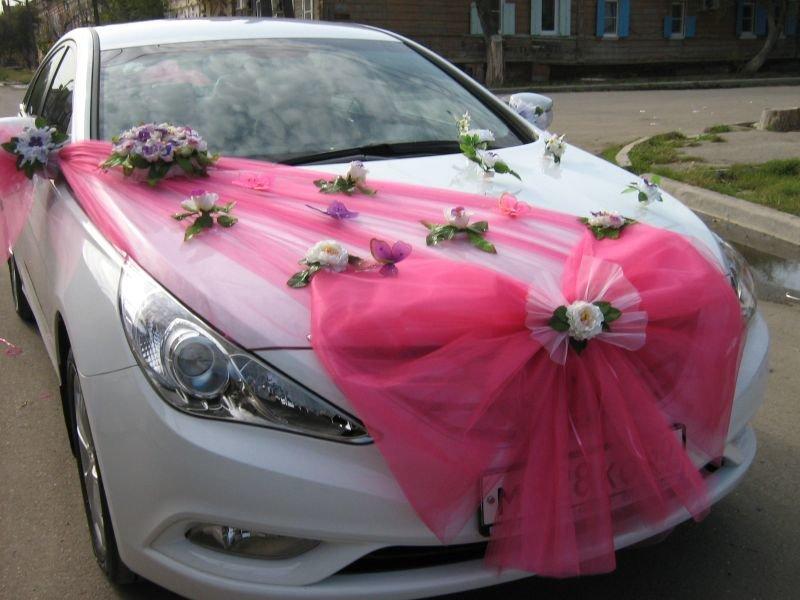 Как сшить бант на машину свадебную 63
