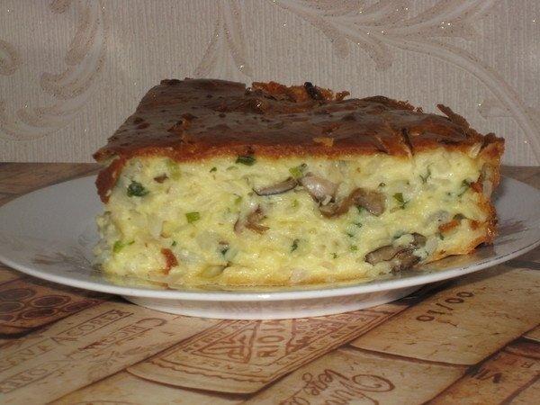 Наливной пирог с капустой на кефире в мультиварке рецепт с