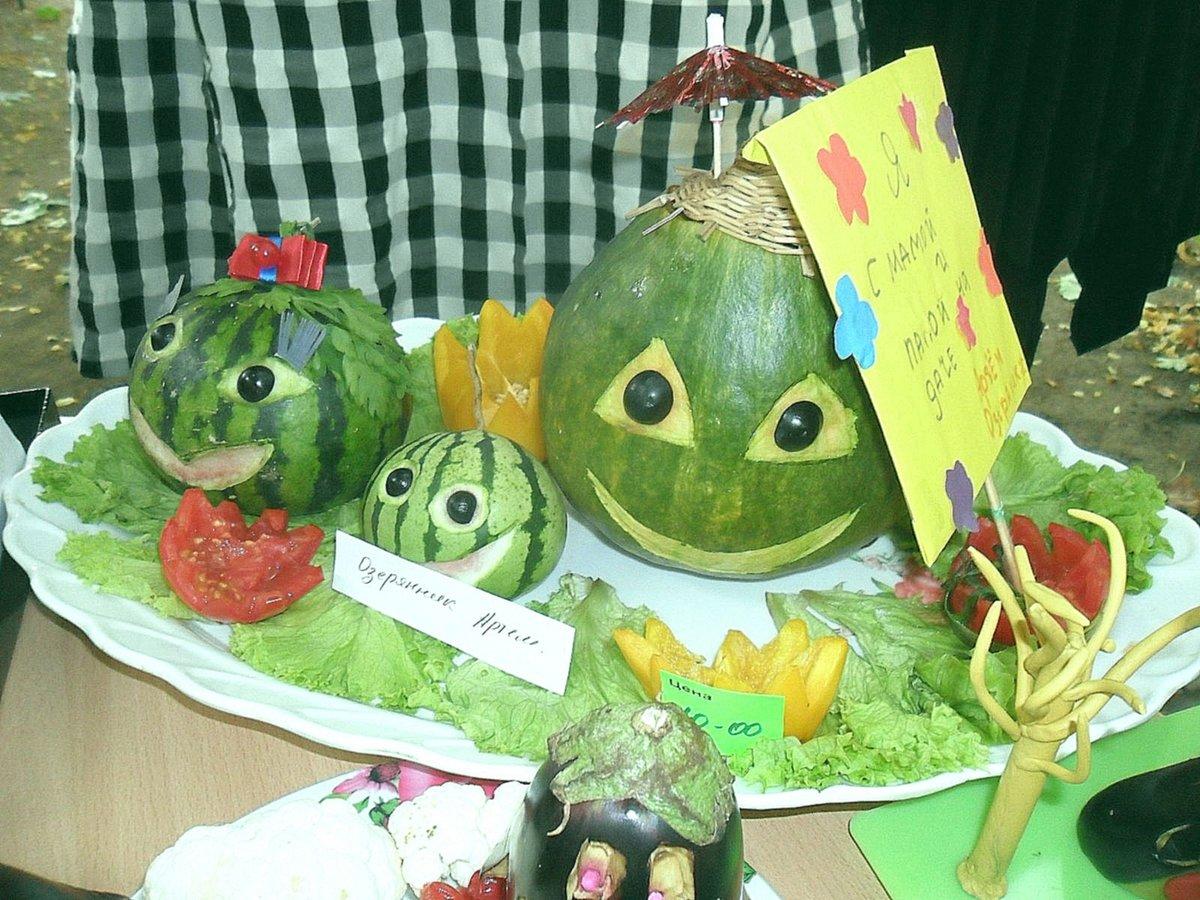 Поделки из арбуза своими руками для выставки в школе. Работы из семян 5