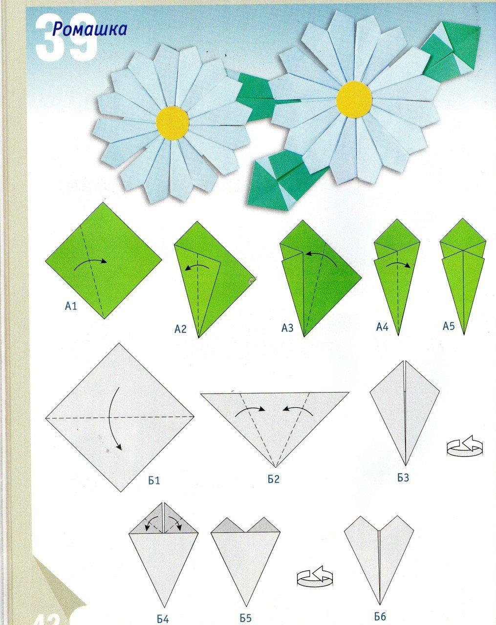 Цветочек с бумаги своими руками схемы
