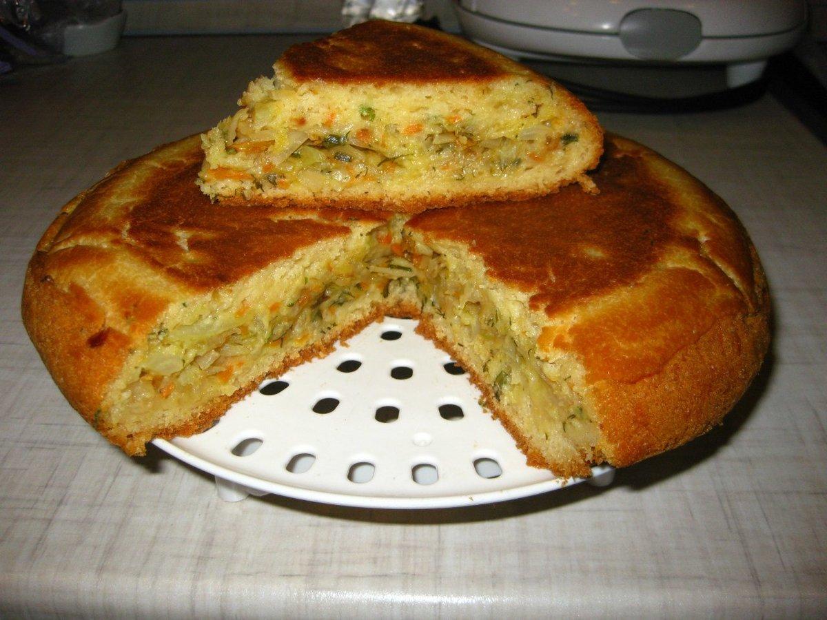 Капустный пирог мультиварке рецепты с фото