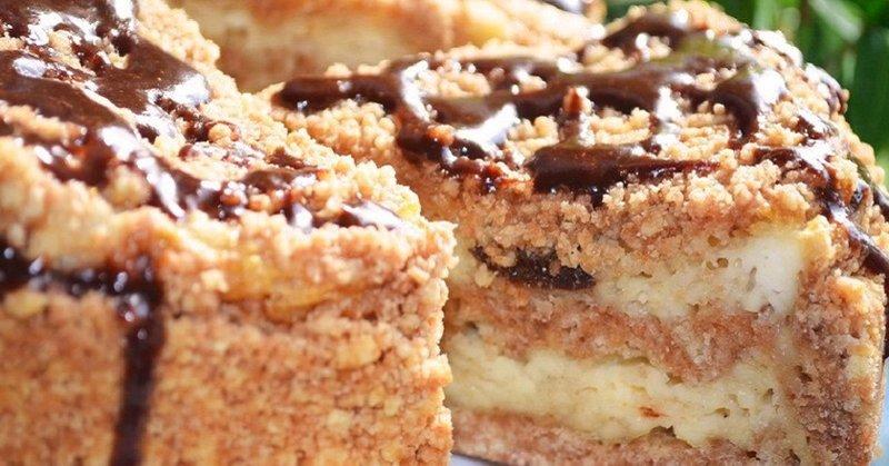 Пирог крошкой с творогом рецепт