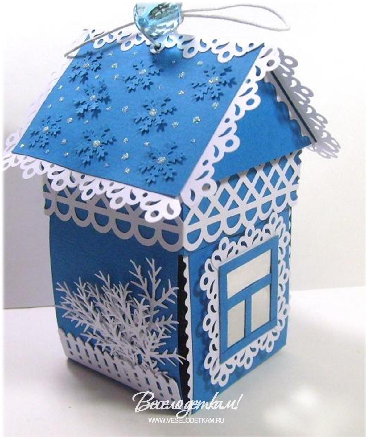 Зимние сказочные домики своими руками 15