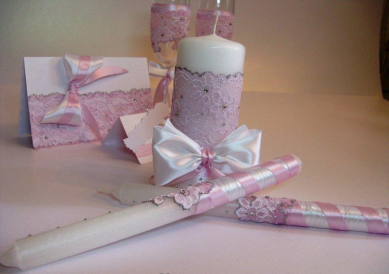 Как оформить свадебные свечи своими руками