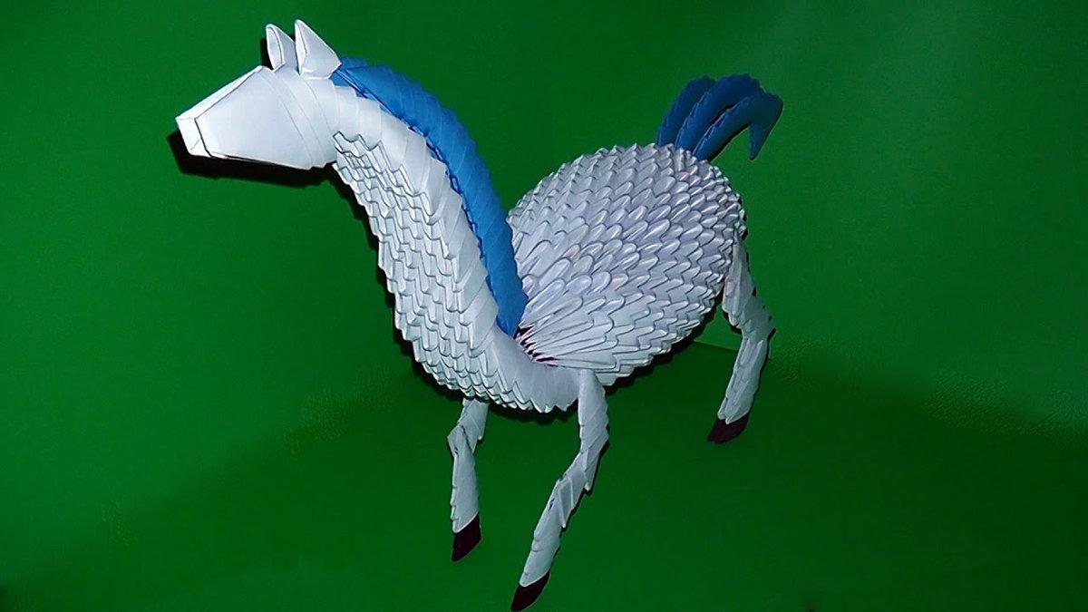 Конь из бумаги своими руками оригами