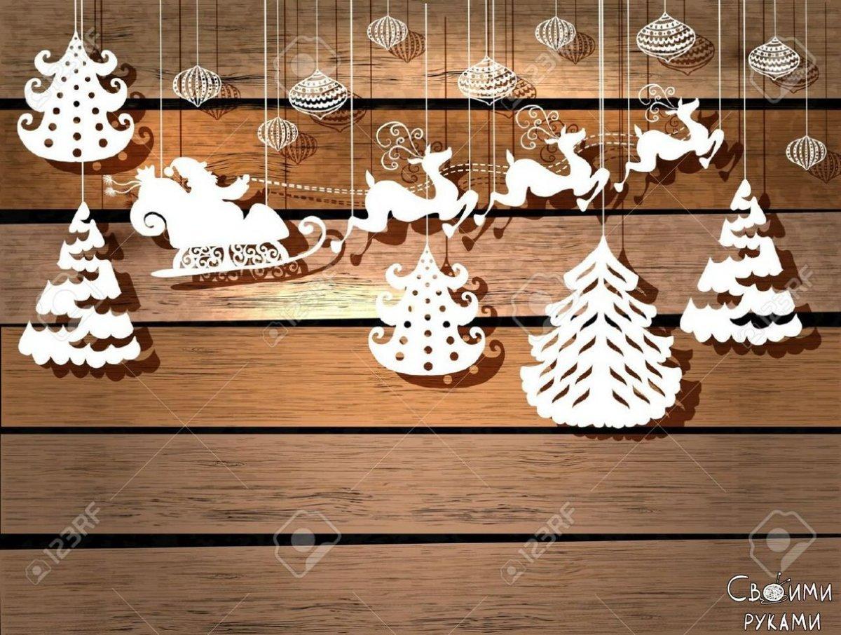 Новогодние поделки на окно из бумаги своими руками