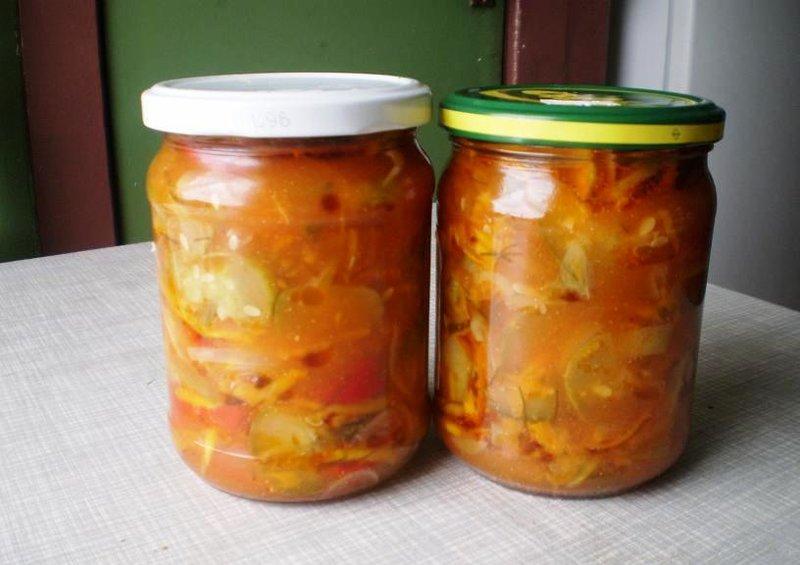 Рецепт дунайского салата на зиму