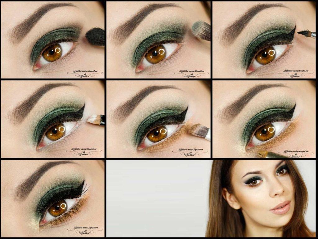 Макияж карих глаз пошаговая инструкция с фото