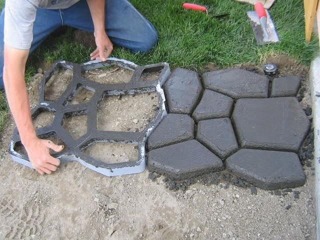 Дорожки для сада своими руками из бетона 63