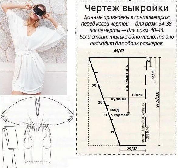 Выкройки одежд шьем сами