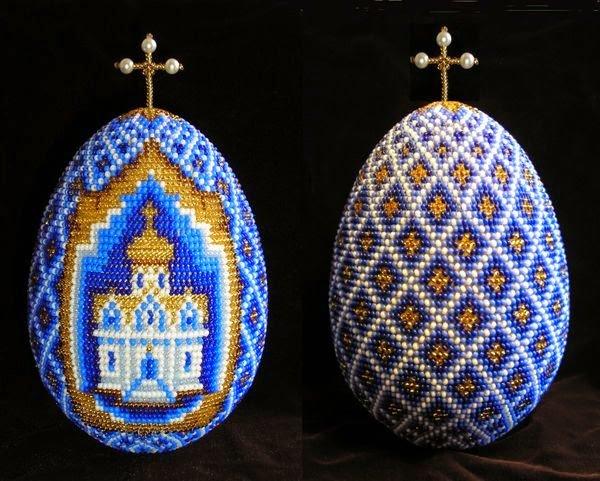 Пасхальное яйцо из бисера своими руками