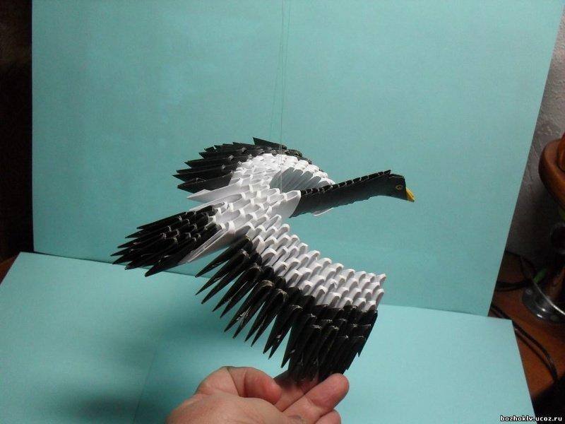 Модульное оригами как сделать птицу из 39