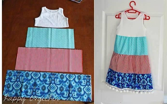 Как сшить сарафан или юбку для девочки 518