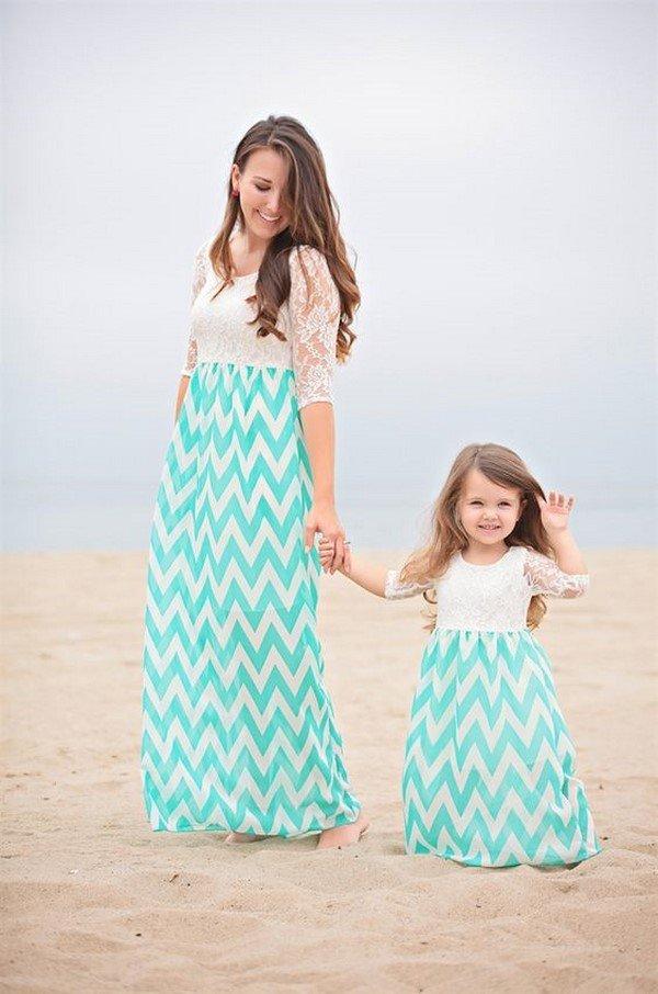Платья мама с дочкой идеи