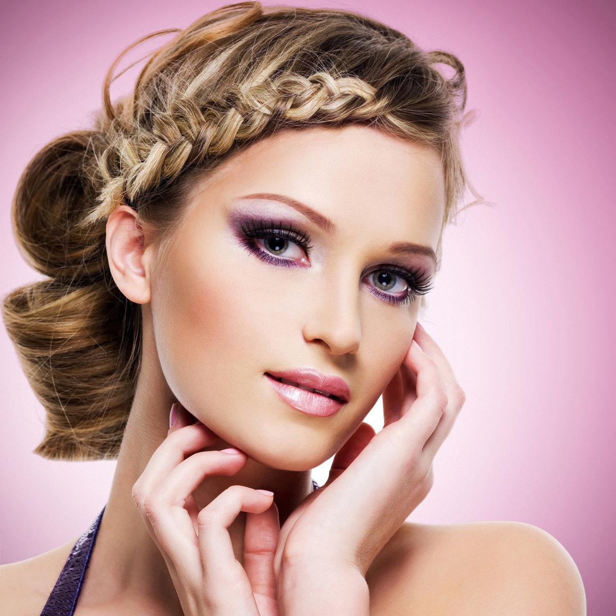 Фото образ макияж с прической