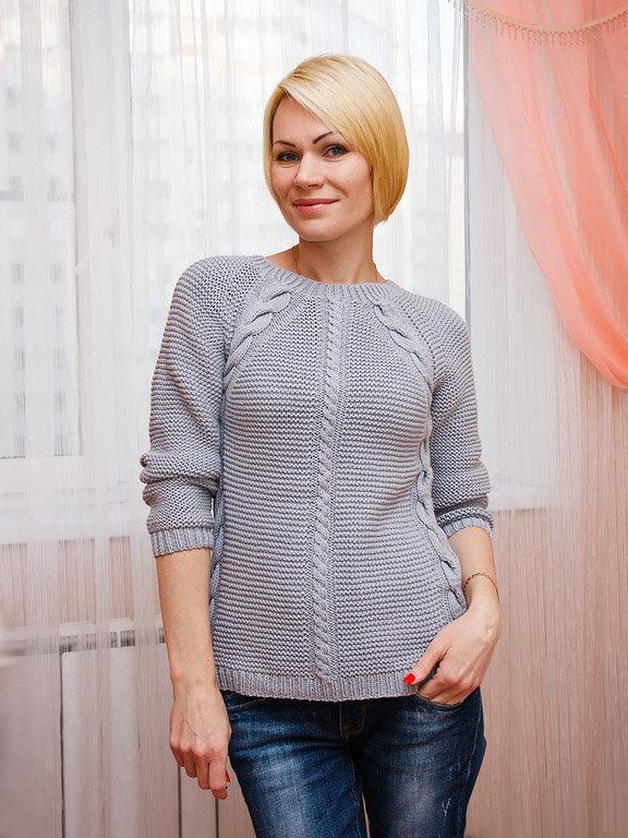 Женский свитер вязать реглан