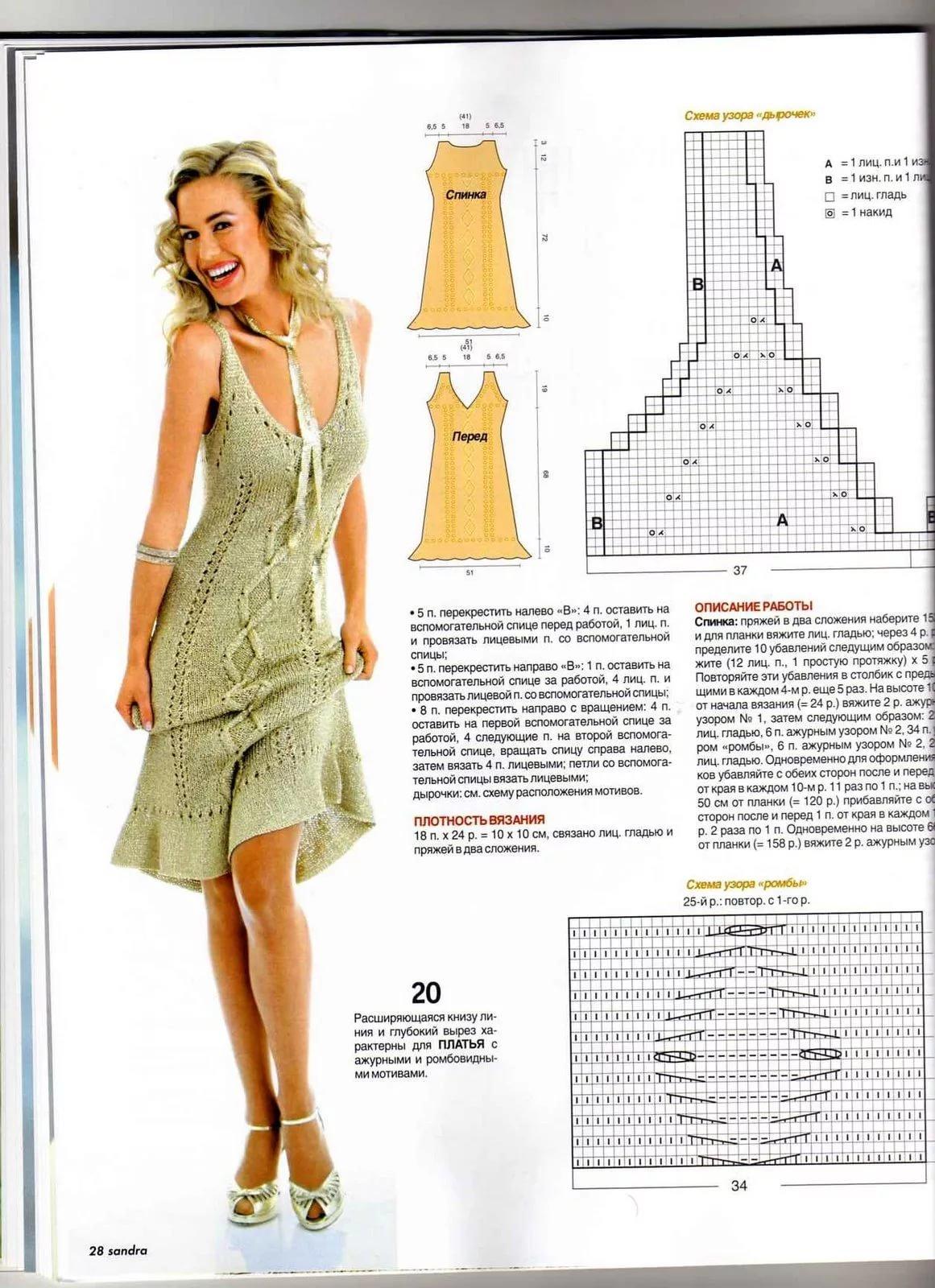 Вязание платьев и сарафанов для детей крючком - подборки 59