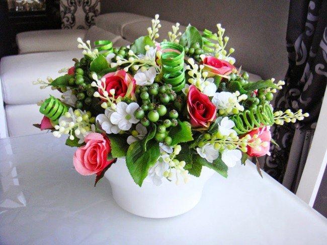 Букеты из домашних цветов своими руками фото 28