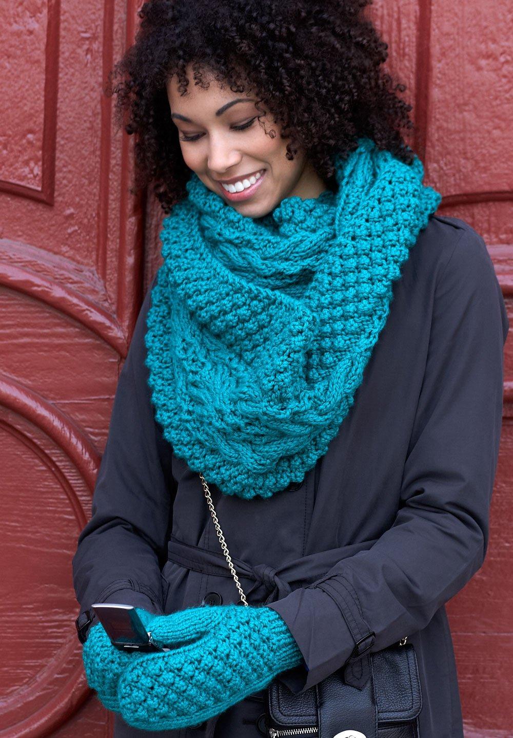 Вязание шарфов и снудов спицами с фото