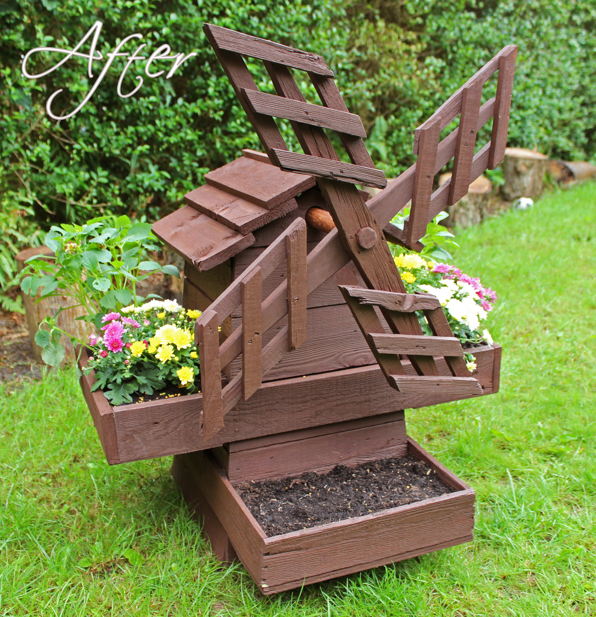 Как сделать мельницу в огород